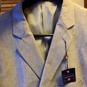 Big and tall Saddlebred blazer grey. New w/ tags!!
